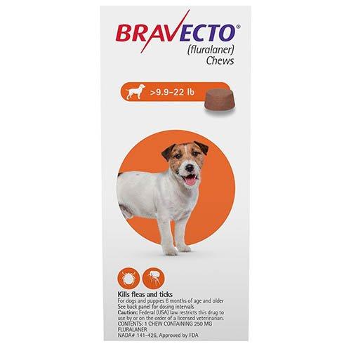 Bravecto for Small Dogs 9.9-22lbs (Orange)