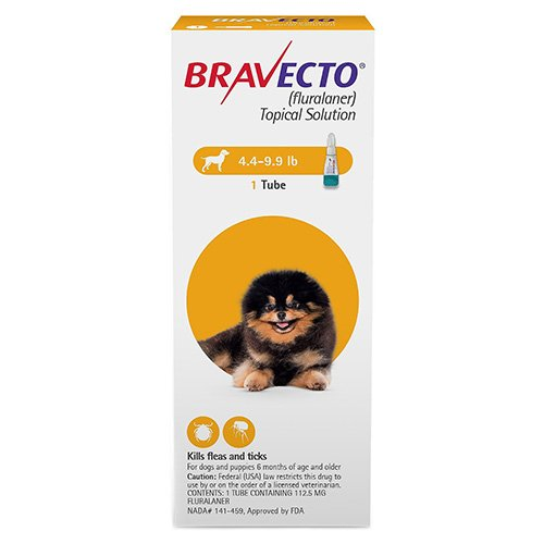 Bravecto Topical for X-Small Dogs (4.4 - 9.9 lbs) Yellow
