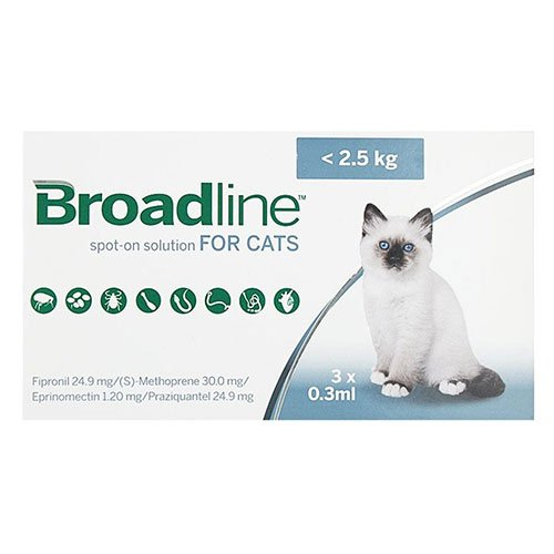 Broadline Spot-On Solution for Small Cats up to 5.5 lbs.