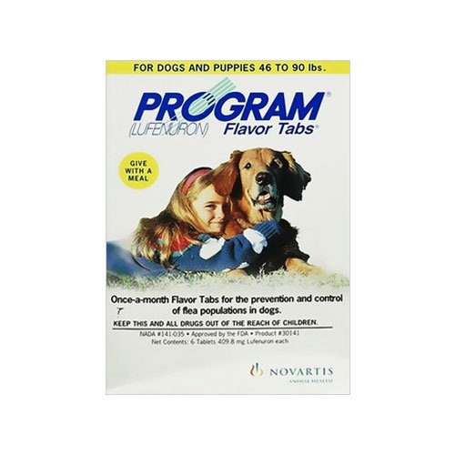 Program Flavored Tabs for Dogs 44.1 - 88 lbs (Grey)