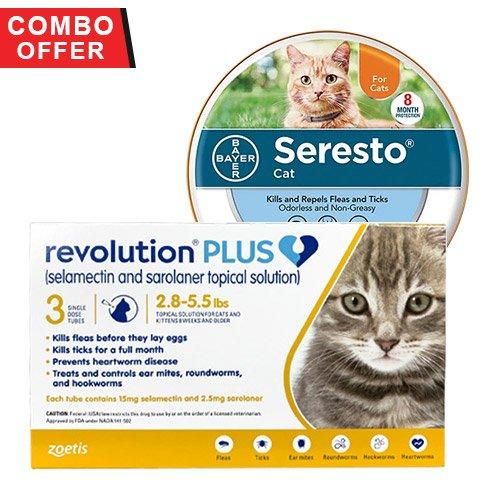 Revolution Plus + Seresto Collar Combo Pack for Cats