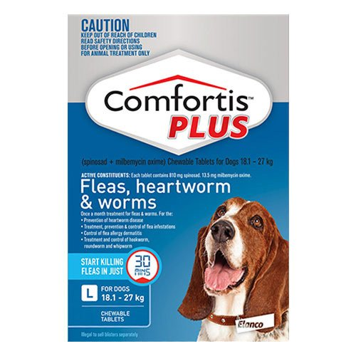 Comfortis Plus (Trifexis) For Large Dogs 18.1-27 Kg (40.1 - 60 lbs) Blue