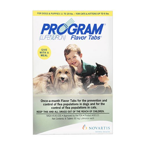 Program Flavored Tabs For Dogs 5.2 - 14.7 lbs (Red)