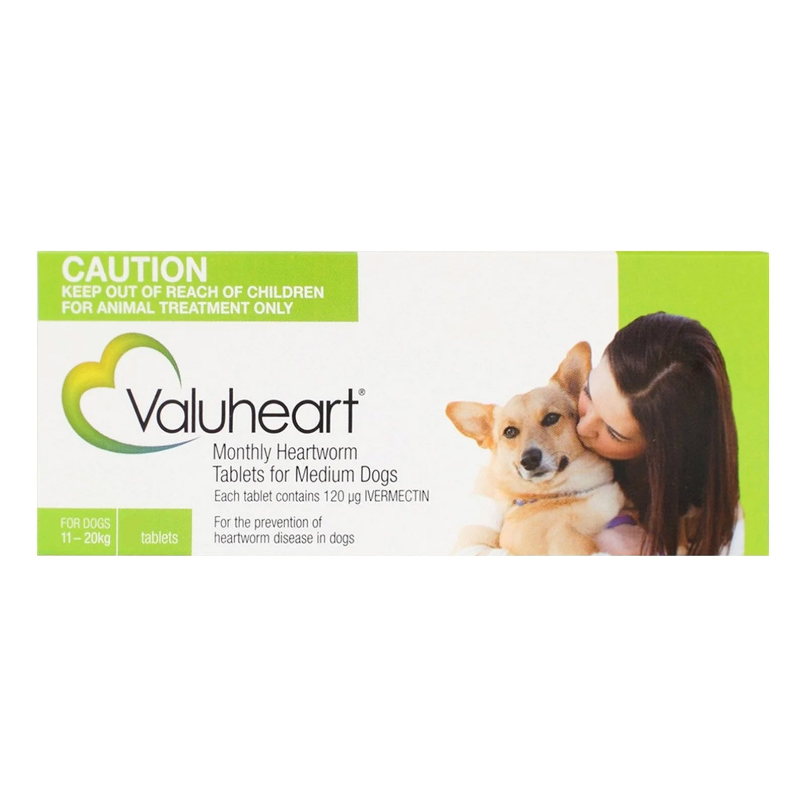 Valuheart For Medium Dogs 23-44 lbs Green